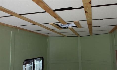 installing staple up ceiling tiles 25 best images about my diy cargo toyhauler on
