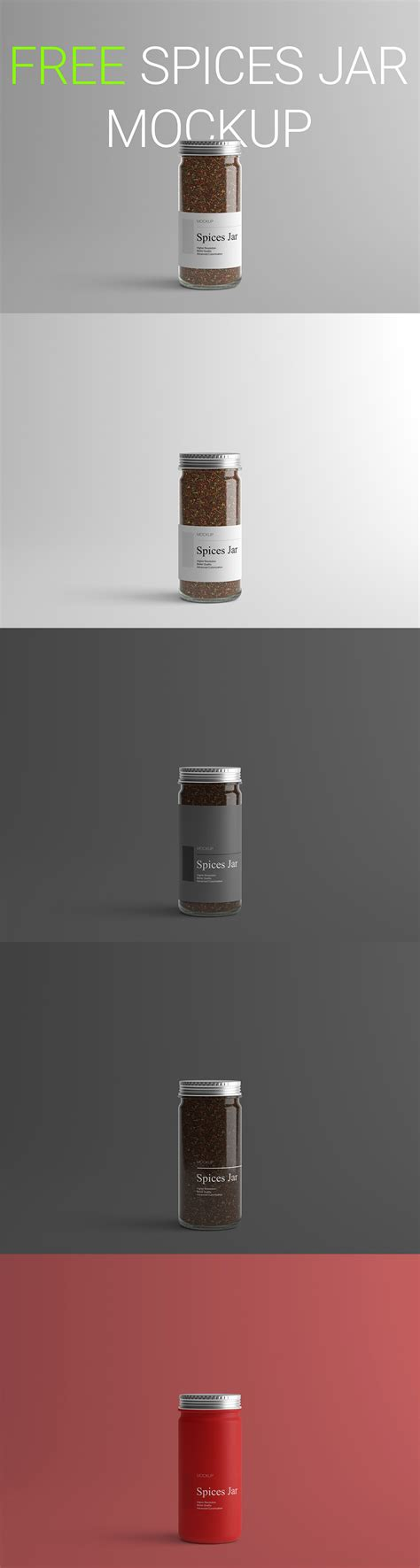 Apple imac mockup, macbook mockup, iphone mockup, ipad, billboards & signs, branding, print, fashion, apparel & more poster free mockup in the master bedroom to showcase your artwork in a photorealistic interior. Free Spices Jar Mockup ~ Creativetacos