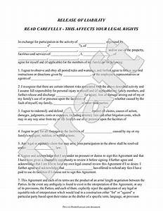 Free Printable Release And Waiver Of Liability Agreement ...