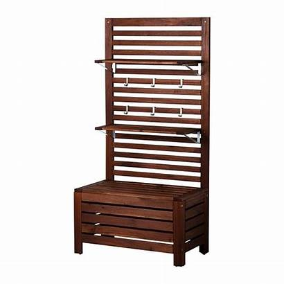 Outdoor Ikea Bench Shelves Panel Furniture Applaro