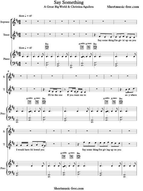 free say something a great big world piano sheet music preview 1 free piano sheet music piano say something piano sheet music a great big world sheetmusic free com
