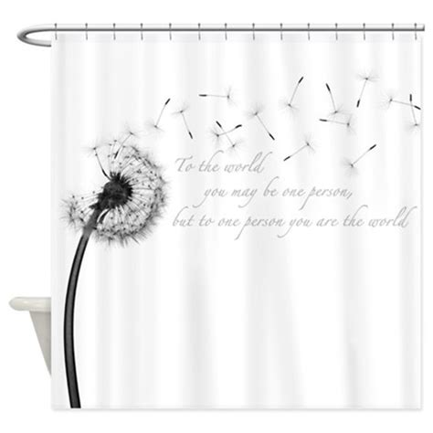 dandelion inspiration shower curtain  admincp