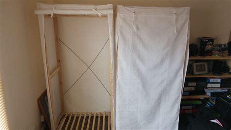 Canvas Wardrobe From Argos X 2... Wooden Frame With Cream