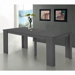Table Console Extensible : table console extensible switch gris satin achat vente console extensible table console ~ Teatrodelosmanantiales.com Idées de Décoration