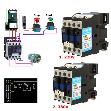 cjx2 1801 ac 220v 380v 18a contactor motor starter relay 3 pole 1nc coil 4kw 7 5kw alexnld