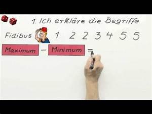 Minimum Maximum Berechnen : grundbegriffe der statistik minimum maximum spannweite ~ Themetempest.com Abrechnung