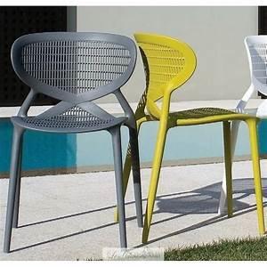 Chaise Salon De Jardin Pas Cher : chaise jardin plastique couleur horenove ~ Teatrodelosmanantiales.com Idées de Décoration