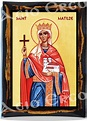 Saint Matilda of Ringelheim Christian Catholic Icon on wood
