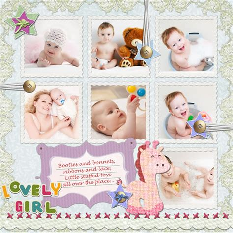 Baby Kids Template by Baby Scrapbook Templates Baby Scrapbook Sles