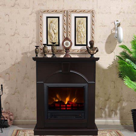 decor flame electric space heater fireplace