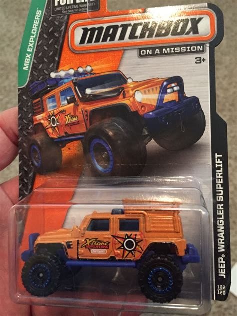 matchbox jeep wrangler superlift jeep wrangler superlift toy car die cast and wheels