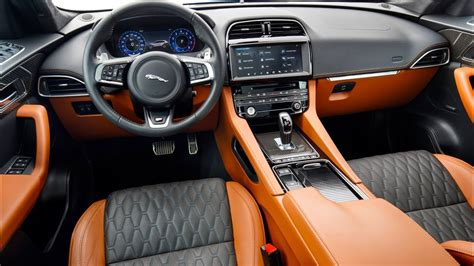 jaguar  pace svr interior full colors youtube