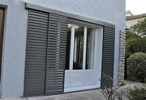 volets coulissants aluminium shutters barn doors With couleur exterieur maison contemporaine 8 le volet coulissant sur mesure