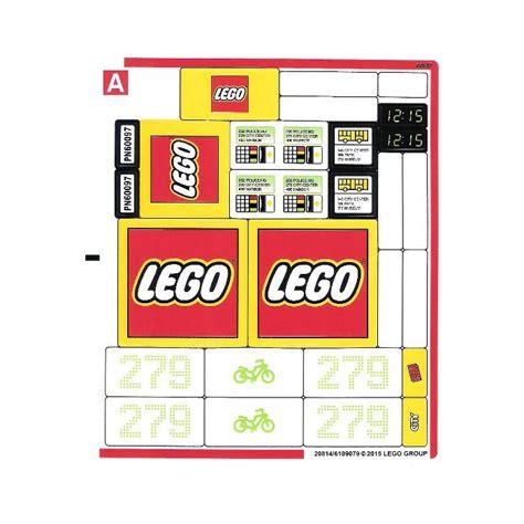 Lego Sticker Sheet 1 For Set 60097 (20814)  Brick Owl