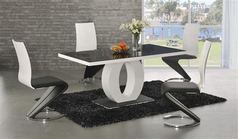 high back dining chairs ga black glass white gloss 160 cm designer dining