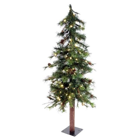 vickerman 4 ft mix country tree pre lit christmas tree