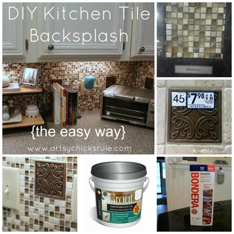 diy tile backsplash kitchen kitchen tile backsplash do it yourself artsy rule 174