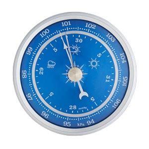 blue barometer insert  size clock inserts