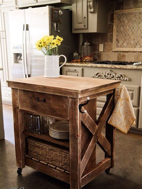 how to build a portable kitchen island mobile kitchen island diy woodworking projects plans
