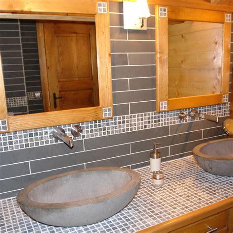 mosaique pour cuisine dalles carrelage ardoise grise 60x7 indoor by