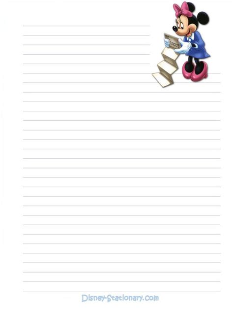 minnie mouse mail stationary   printable