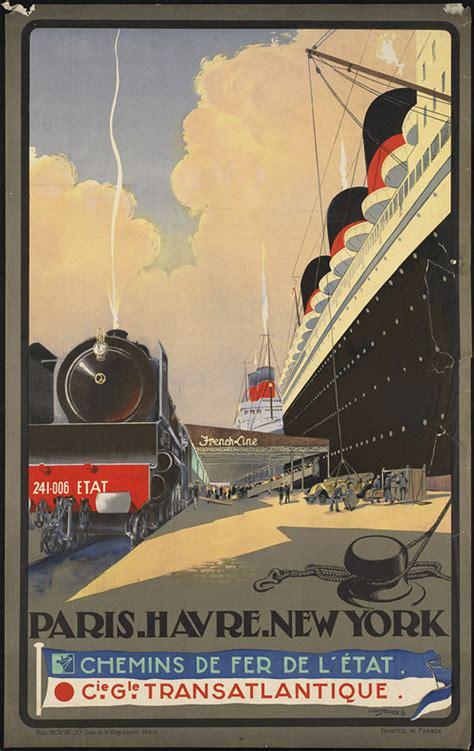 Art Deco Boat Poster by Pub Affiches Publicit 233 Et Ou Propagande S Affichent
