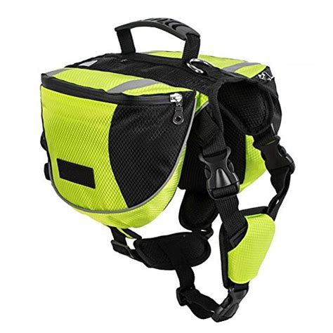 dog saddle dogs backpack bag hiking pack hound travel polyester saddlebags camping medium buddy backpacks wear amazon carrier neon pet