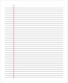 Double Lined Paper Template