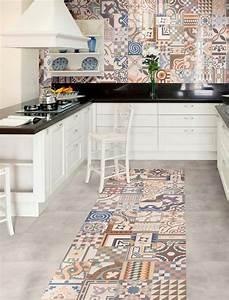 Cuisine Style Ancien : carrelage sol ou mur style ancien patchwork 44x44 cm l 39 ancienne as de carreaux appartement ~ Teatrodelosmanantiales.com Idées de Décoration