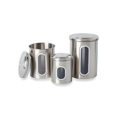 Kitchen Canister Sets Stainless Steel by Stainless Steel Canister Set 3 Walmart