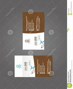 Professional Social Business Card Stock Vector