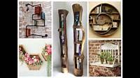 creative home decorations Creative Wall Shelves Ideas – DIY Home Decor - YouTube