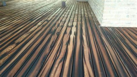 shou sugi ban drewno pinterest cedar deck decking