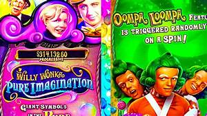 WILLY WONKA SLOT MACHINE *PURE IMAGINATION* OOMPA LOOMPA ...