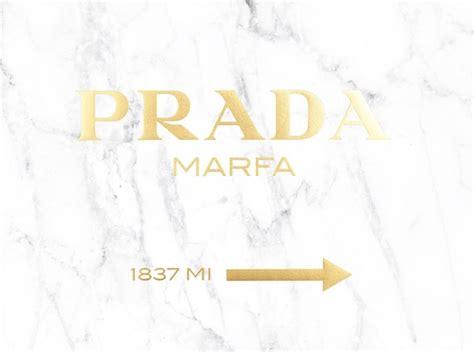 poster prada marfa  gold text  marble prints