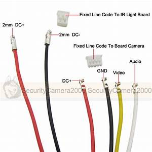 6 Cords Video 1 5mm And 2 0mm Caliber To Line Code Cable