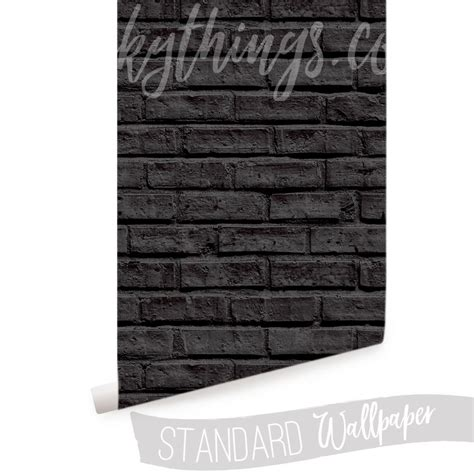 3d Brick Wallpaper South Africa by Black Brick Wallpaper Black Brick Wall Mural
