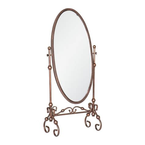 floor mirror oval shop boston loft furnishings tunis antique bronze oval floor mirror at lowes com