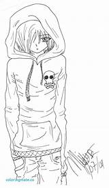 Emo Anime Coloring Pages Guy Demon Guys Printable Boy Vampire Disney Boys Sketch Colouring Manga Drawing Drawings Deviantart Cool Fairy sketch template