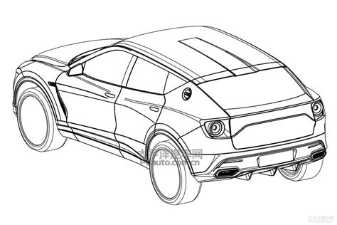 Kleurplaat Lamborghini Urus by Sports Car Line Drawing At Getdrawings Free For