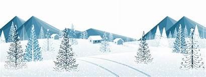 Winter Clipart Snow Trees Ground Transparent Clip