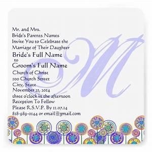 monogram new sizes square fun wedding invitation zazzle With wedding invitations sizes square