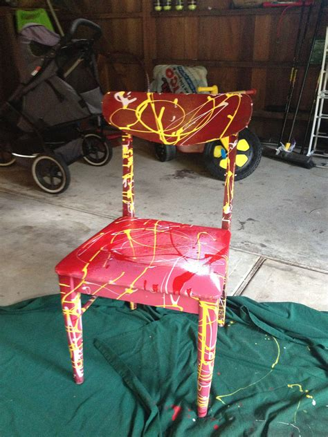 diy splatter paint chair chairs painted chairs