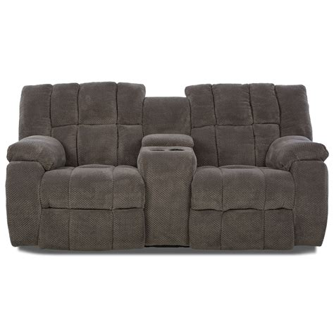 Power Reclining Loveseats With Console by Klaussner Dozer Dozer Power Reclining Loveseat With