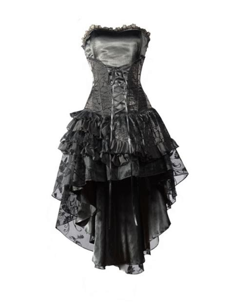 black corset high  layer skirt gothic party dress