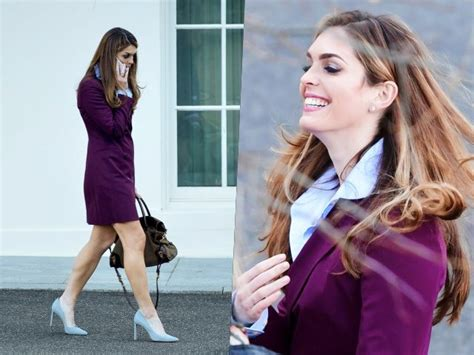 Fashion Notes: Hope Hicks Exits White House in Purple ...