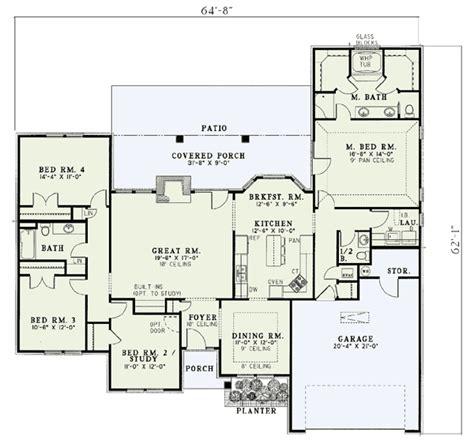 Frenchstyle Splitbedroom House Plan  5900nd  1st Floor