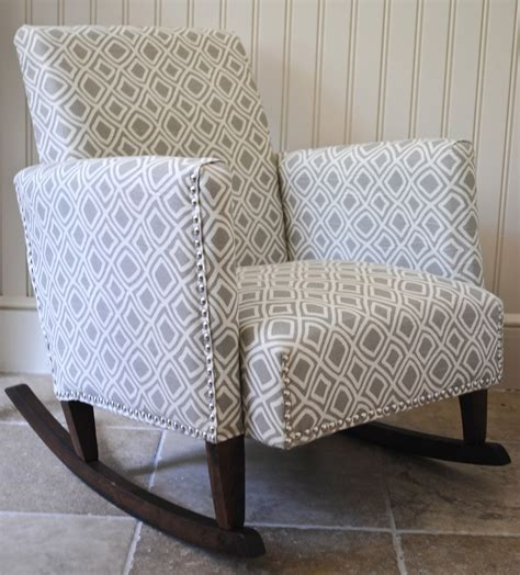 Diy Armchair Upholstery by Diy Ish Upholstered Child S Rocking Chair The
