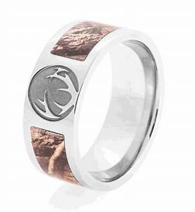 realtree camo crush ring see it now titanium buzz With deer hunting wedding rings
