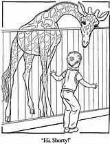 Zoo Coloring Printable Animals Colouring Giraffe sketch template